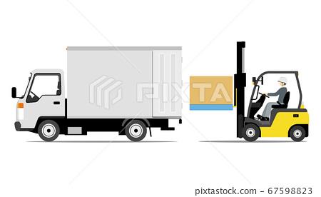 叉車裝載卡車(側向) 67598823