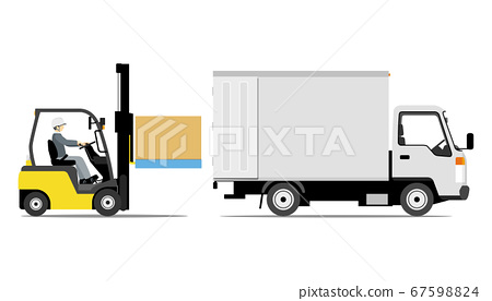 叉車裝載卡車(側向) 67598824