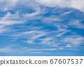 Cirrus clouds in blue sky in summer 67607537