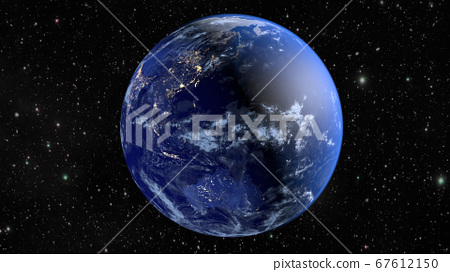 Planet Earth. The radiance of the cities of 67612150