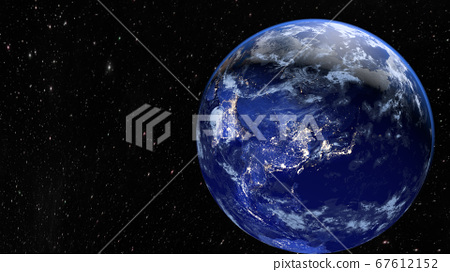 Planet Earth. The radiance of the cities of Asia, 67612152