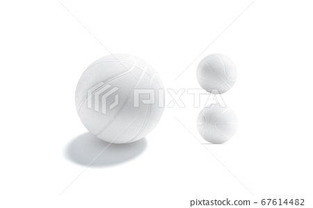 Blank white basketball ball mock up, different sides 67614482