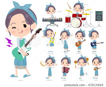 hairband apron mom_pop music 67614884