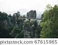 Bastei Bridge in Saxon Switzerland National Park, Saxony, Germany 67615965