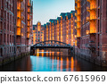 Hamburg Speicherstadt at twilight, Germany 67615969