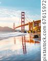 Golden Gate Bridge at sunset, San Francisco, USA 67615972