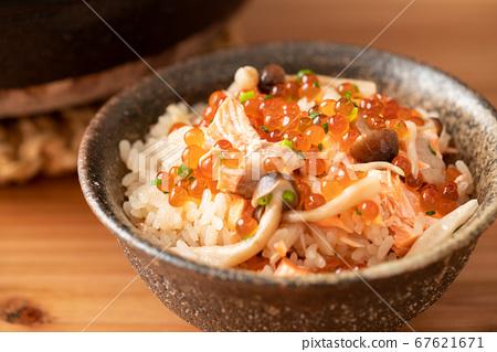 三文魚和姬路,煮多少米 67621671