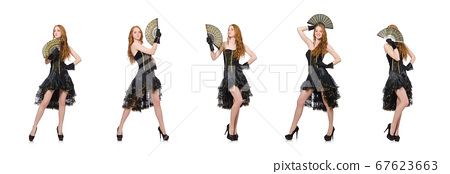 Woman in fashion clothing concept 67623663