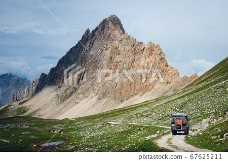 The Rocca La Meja, famous mountain peak in piedmont, italy 67625211