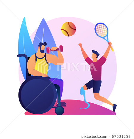 Disabled sports vector concept metaphor 67631252