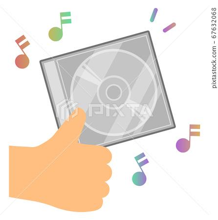 拿著音樂CD盒 67632068