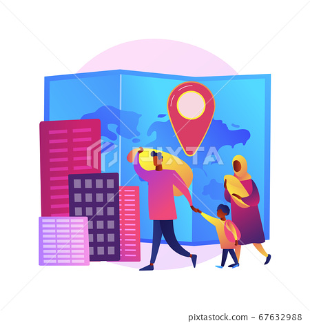 Refugees family vector concept metaphor 67632988