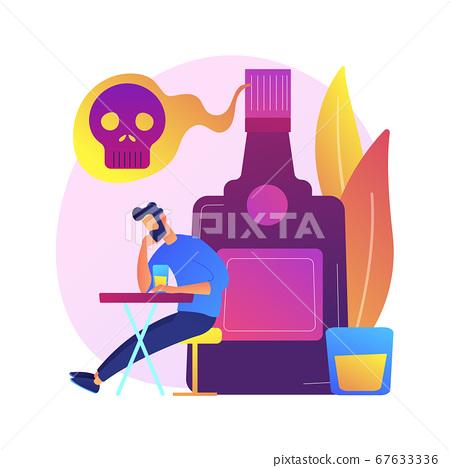 Alcoholism vector concept metaphor 67633336