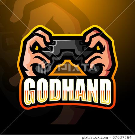 Godhand mascot esport logo design 67637564