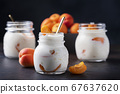 Sweet healthy yogurt with apricots 67637620