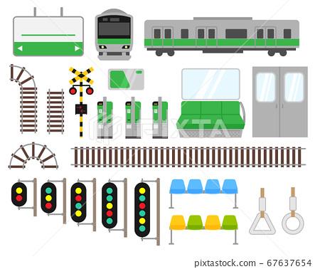 火車相關插圖集素材 67637654