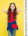 Perfect curls. Kid cute face with adorable curly 67638464