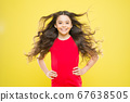 For the look of the future. Happy child on yellow 67638505
