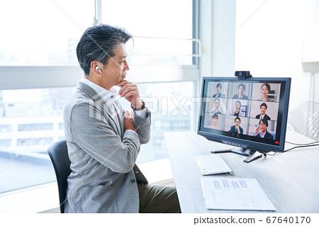 在線會議視頻會議視頻會議遠程工作遠程辦公 67640170