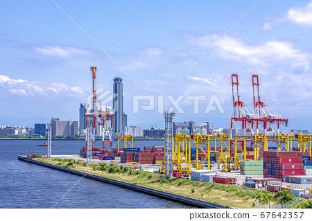오사카 오사카 항만 풍경 67642357