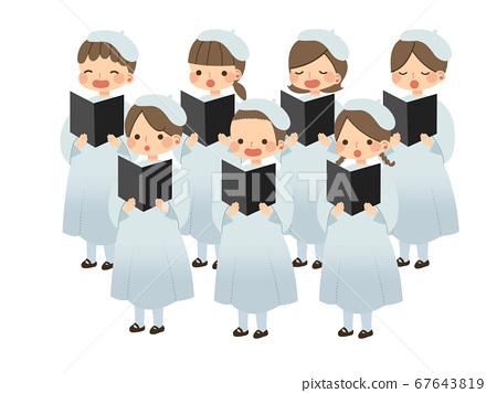 성 노래 합창단의 아이들 67643819