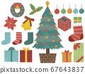 다양한 크리스마스 소재 67643837