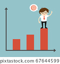 Business concept, Businessman is standing on the 67644599
