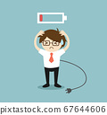 Business concept, Businessman feeling frustrated 67644606