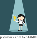 Business concept, business woman standing in the 67644608