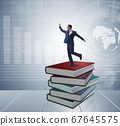 Businessman in executive education concept 67645575