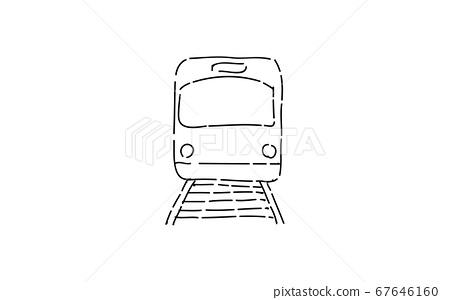 模擬手寫風格的鬆動觸摸圖標:火車 67646160