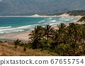 Panorama on the long Lokaro Beach near Fort Dauphin 67655754