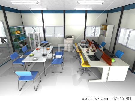 建築,施工,土木工程,維護的施工現場辦公室的圖像(3DCG) 67655981