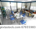Image of construction site office for construction, construction, civil engineering, maintenance (3DCG) 67655983