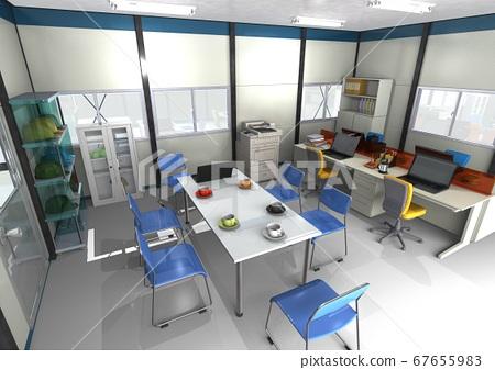 建築,施工,土木工程,維護的施工現場辦公室的圖像(3DCG) 67655983
