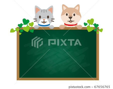 黑板上有一隻寵物的插圖 67656765
