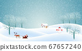 Christmas snow Winter background 67657240
