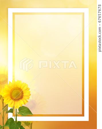 Summer frame with sunflower motif 67657678