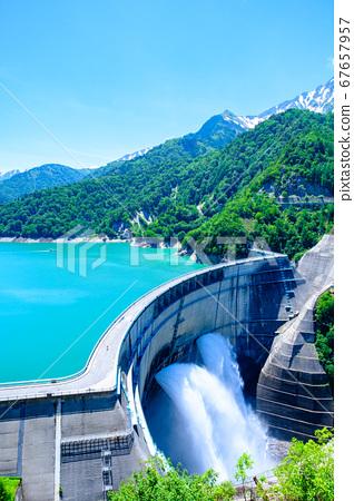 초여름의 구로베 댐 67657957