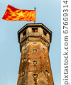 Tower with fluttering national flag at Hanoi know 67669314