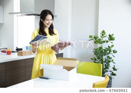 郵購行李箱紙板箱 67669981