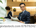 Businessman office middle man 67670242