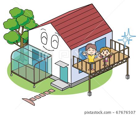 帶露台的外部設計房 67676507