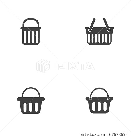Basket vector icon, Shopping Sign Online 67678652