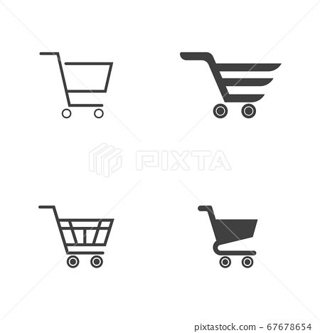 Basket vector icon, Shopping Sign Online 67678654