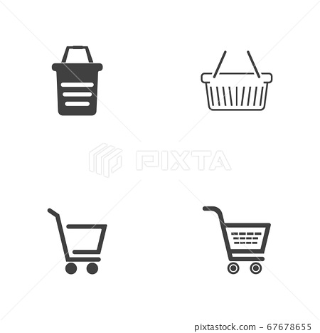 Basket vector icon, Shopping Sign Online 67678655