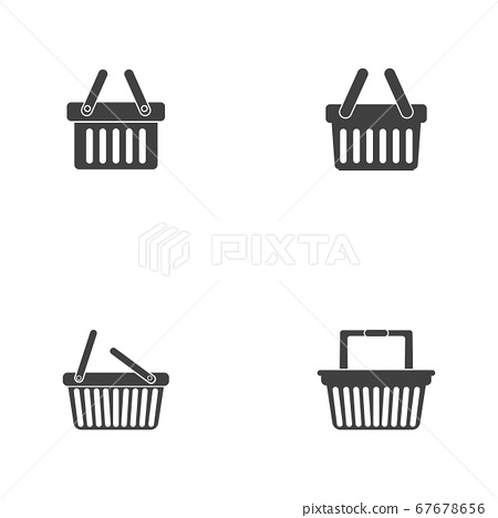 Basket vector icon, Shopping Sign Online 67678656