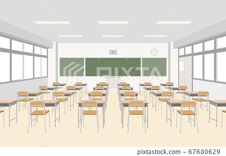小學教室前視圖的插圖 67680629