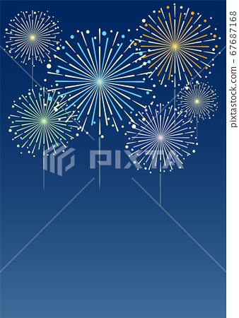 Fireworks Background Illustration Material Stock Illustration 67687168 Pixta
