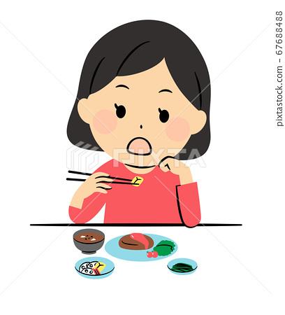 不好的飲食方式:肘部吃飯 67688488